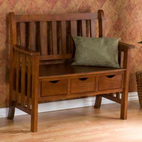3-Drawer Country Bench