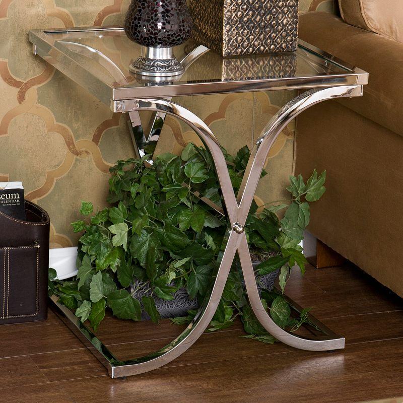 Vogue Chrome End Table, Grey