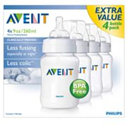 Avent 4-pk. BPA-Free Natural Feeding Bottles - 9 oz.