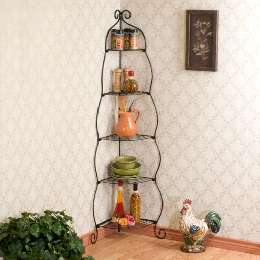 Scrolled Corner Shelf