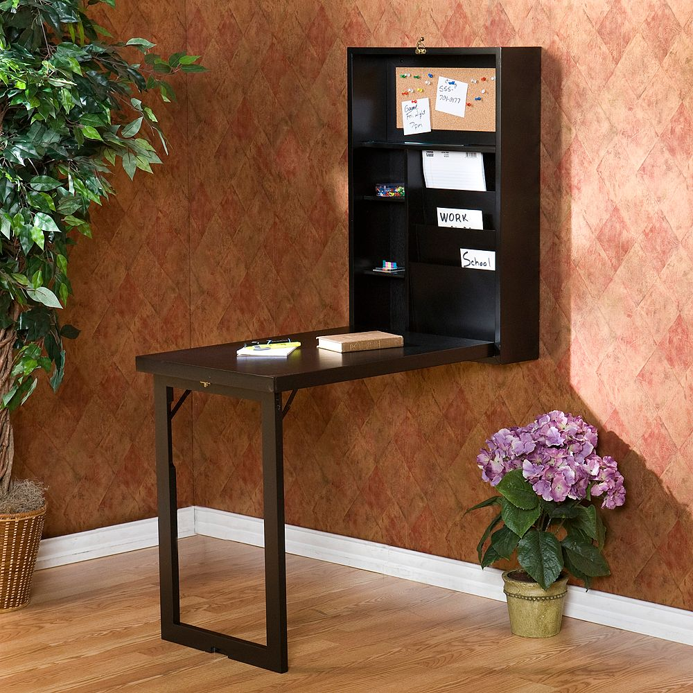 Wall-Mounted Fold-Out Convertible Desk