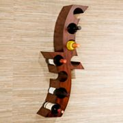 Wall-Mounted Wine Rack