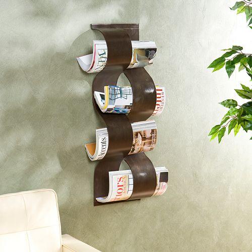 Wave Wall-Mounted Magazine Rack