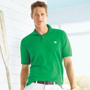 Chaps Solid Pique Polo - Big and Tall