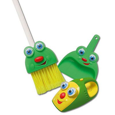 Kidz Delight Silly Sam the Broom, Dustpan and Larry the Talking Vacuum