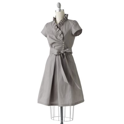 Melonie Ruffle Taffeta Dress