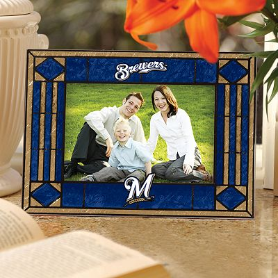 Milwaukee Brewers 4 x 6 Art Glass Picture Frame