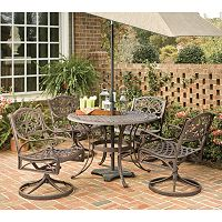 Patio Dining Table & Swivel Chair 5 pc Set