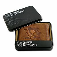 Pittsburgh Penguins Leather Bifold Wallet