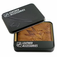 San Jose Sharks Leather Bifold Wallet