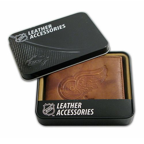 Detroit Red Wings Leather Bifold Wallet