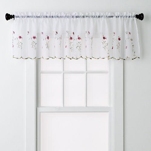 United Curtain Co. Loretta Window Valance - 52'' x 18''