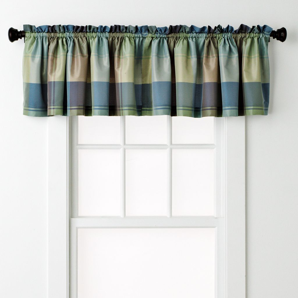 United Curtain Co. Plaid Window Valance - 54'' x 18''