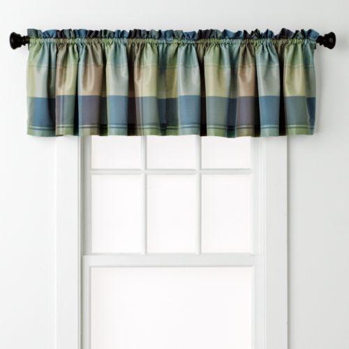 Curtain Co Plaid Window Valance 54 X 18