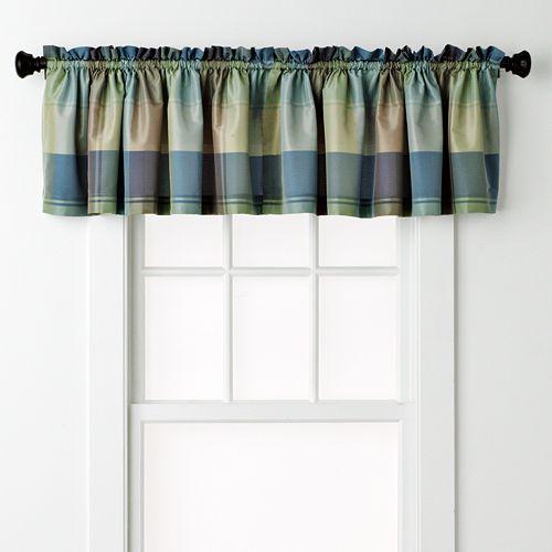 United Curtain Co. Plaid Window Valance - 54'' x 18''