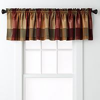 United Curtain Co. Plaid Valance - 54'' x 18''