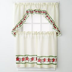United Curtain Co. Apples 3-pc. Kitchen Curtain Set
