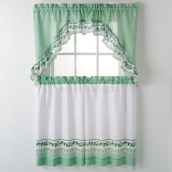 United Curtain Co. Ivy 3pc. Kitchen Curtain Set