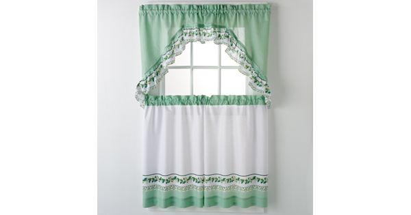 Kohl S Kitchen Curtains: United Curtain Co. Ivy 3-pc. Kitchen Curtain Set