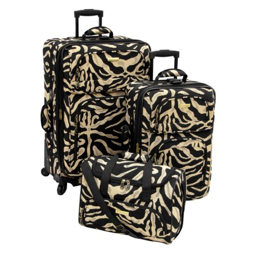 Stanton Luggage, Madison 3-pc. Zebra Luggage Set