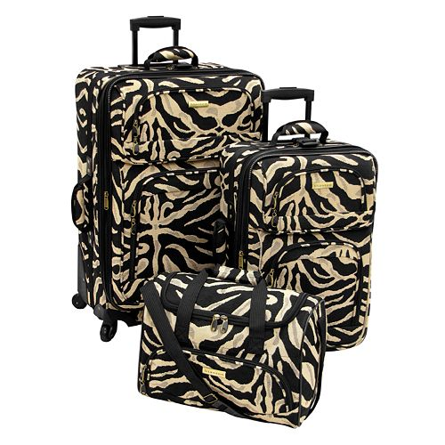 Stanton Madison 3-Piece Zebra Luggage Set