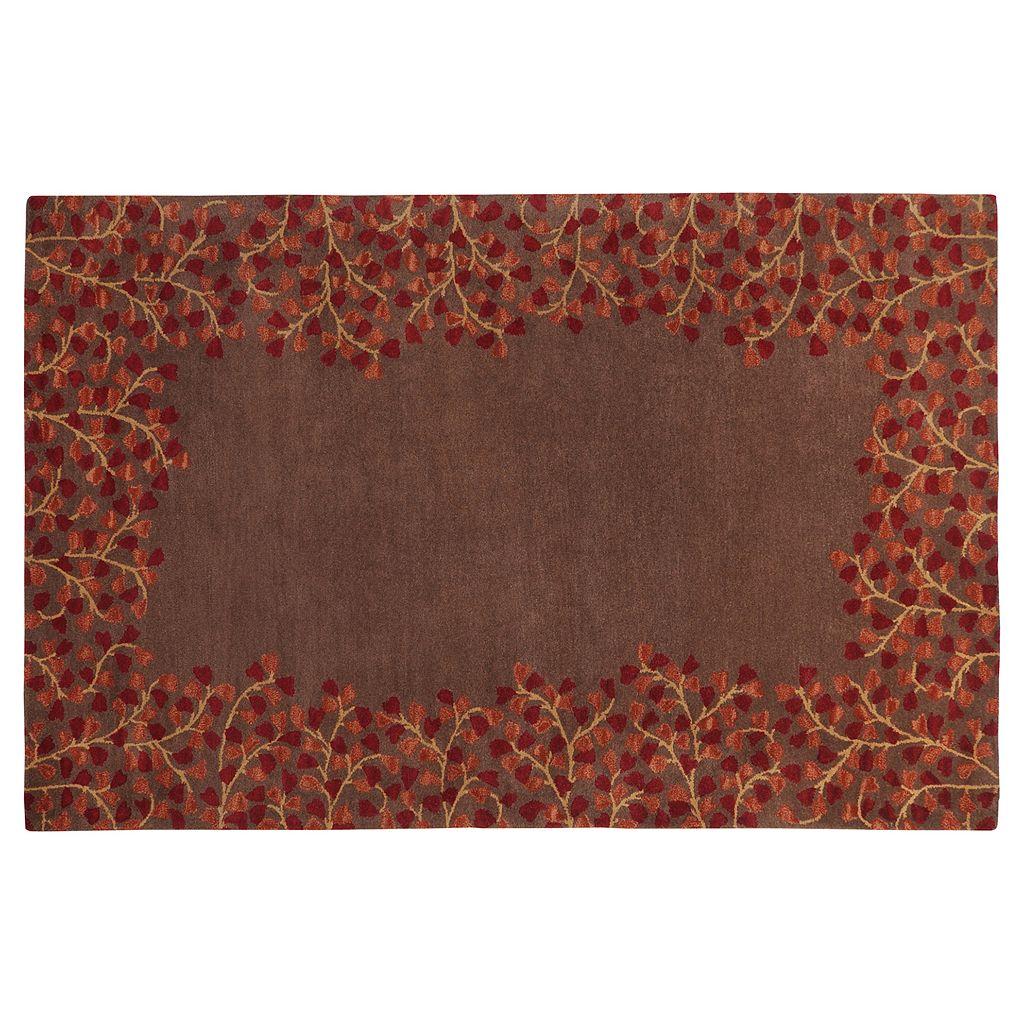 Surya Athena Chocolate Floral Rug - 24'' x 36''