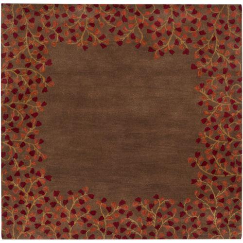 Surya Athena Floral Border Rug – 4′ Square