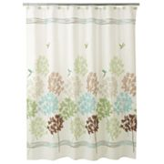 Peri Garden Pond Fabric Shower Curtain