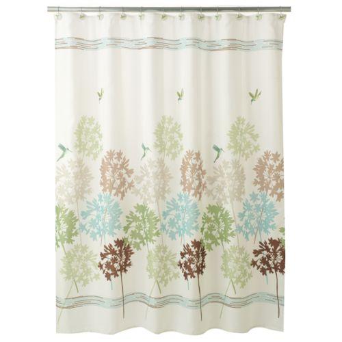 Peri Garden Pond Fabric Shower Curtain