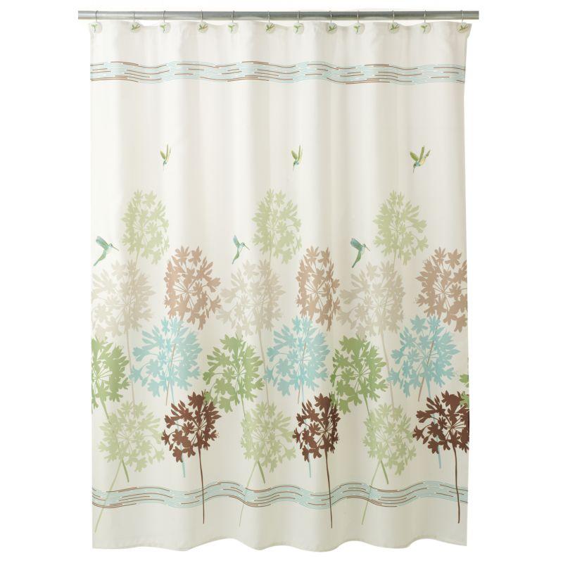 Creative Bath Field Flowers Fabric Shower Curtain