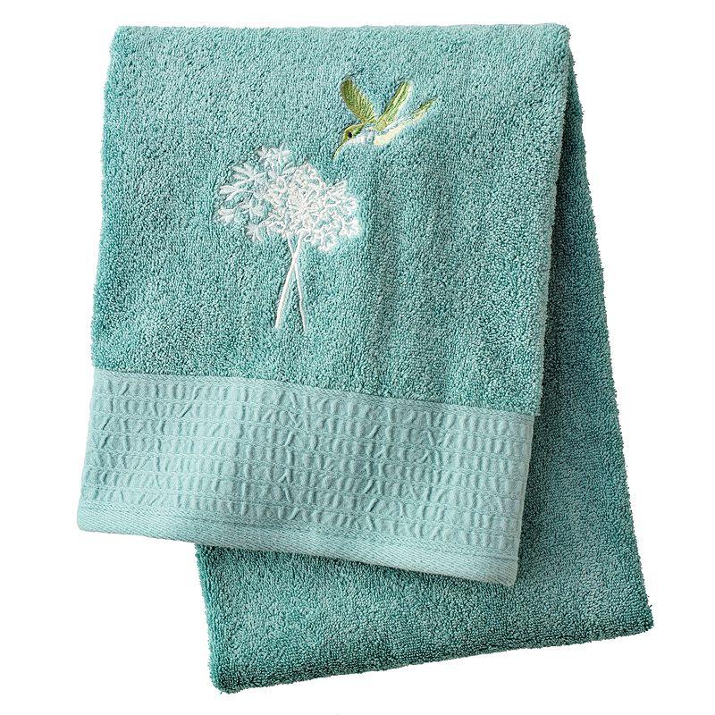 Peri Home Towels: Aqua Cotton Bathroom Supplies