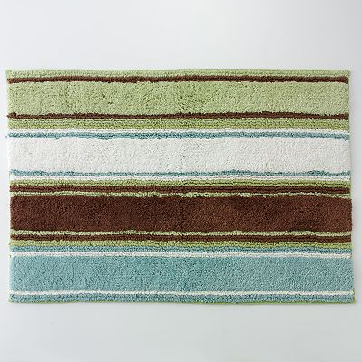 Peri Garden Pond Striped Bath Rug