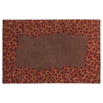 Surya Athena Floral Border Rug - 8' x 11'