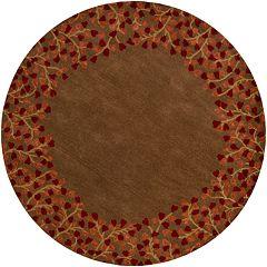 Surya Athena Floral Border Rug - 8' Round