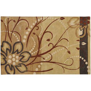 Surya Athena Tan Floral Rug - 7'6'' x 9'6''