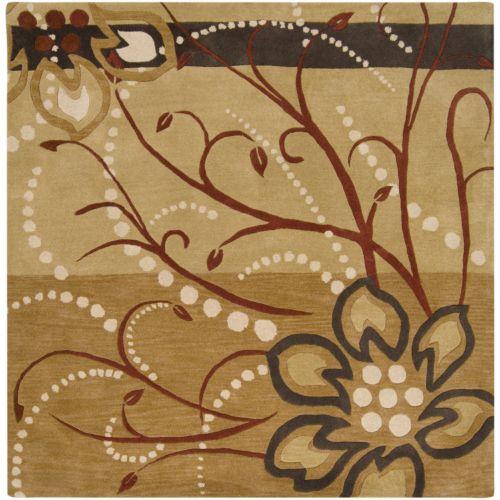 Surya Athena Tan Floral Rug – 8′ Square