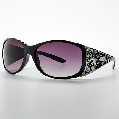 XOXO Chardonnay Cut-Out Oval Wrap Sunglasses