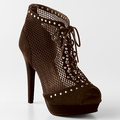 Sacred Heart Kremie Peep-Toe Booties - Women