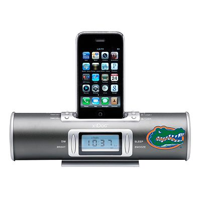 Florida Gators XIDoc Clock Radio and iPod Docking Station