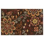 Surya Athena Chocolate Floral Rug - 5' x 8'
