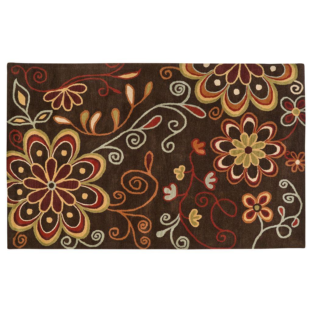 Surya Athena Chocolate Floral Rug - 7'6