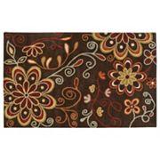 Surya Athena Chocolate Floral Rug - 7'6' x 9'6'