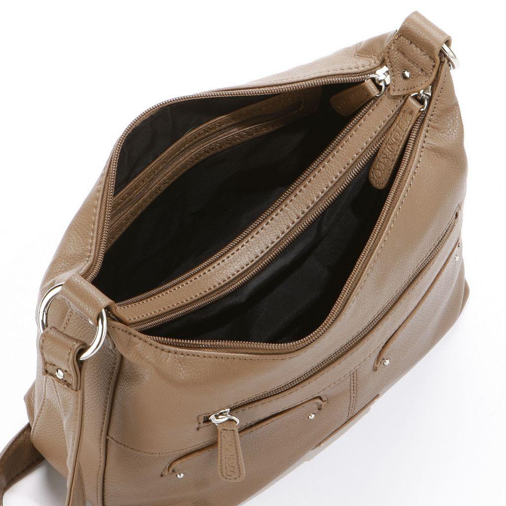 Stone and Co. Sophia Double Zip Leather Hobo