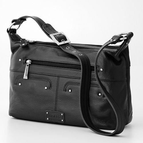 Stone & Co. Sophia Double Zip Leather Hobo
