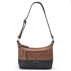 Stone & Co. Sophia Double Zip Leather Hobo