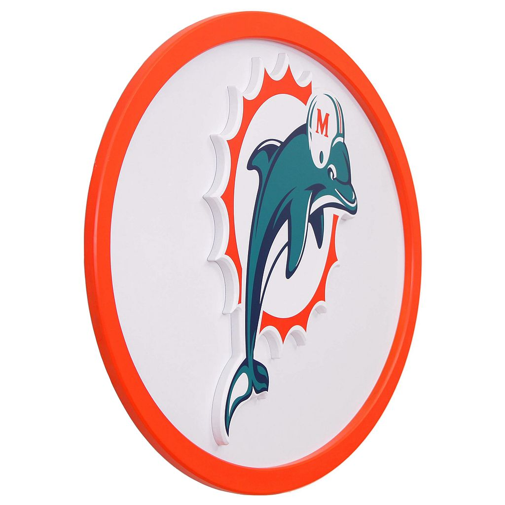 Miami Dolphins 46-inch Carved Wall Art