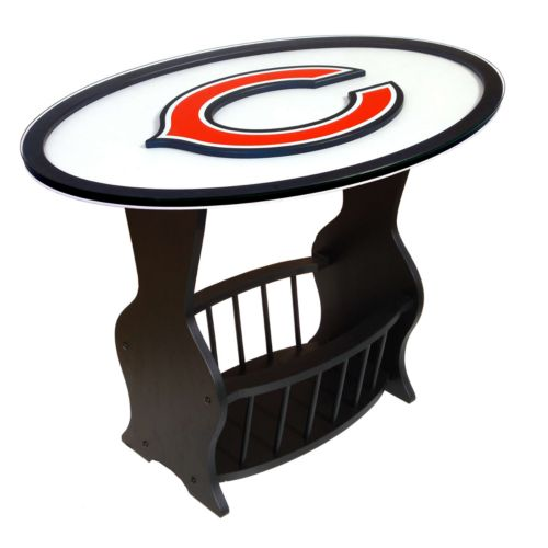 Chicago Bears End Table