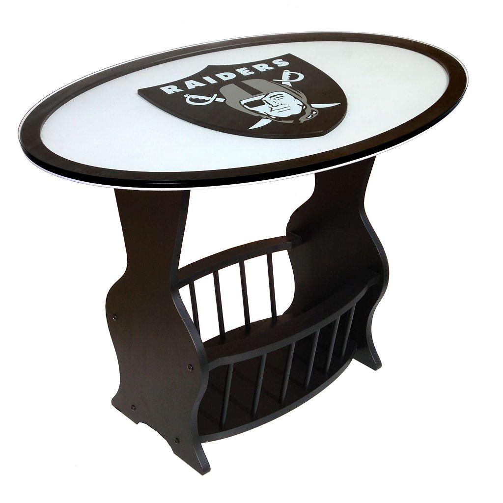 Oakland Raiders End Table