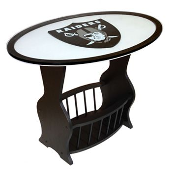Oakland Raiders End Table