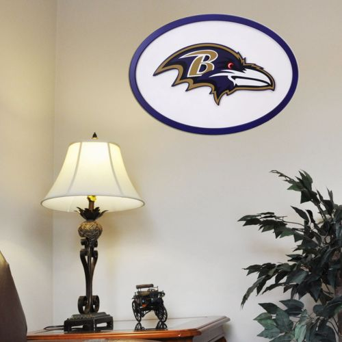 Baltimore Ravens 31-inch Carved Wall Art